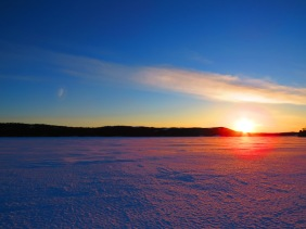 Sunset on the West Side of Lac Couillard