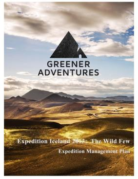 Iceland Expedition Management Plan