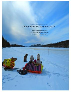 Route Blanche Expedition Management Plan