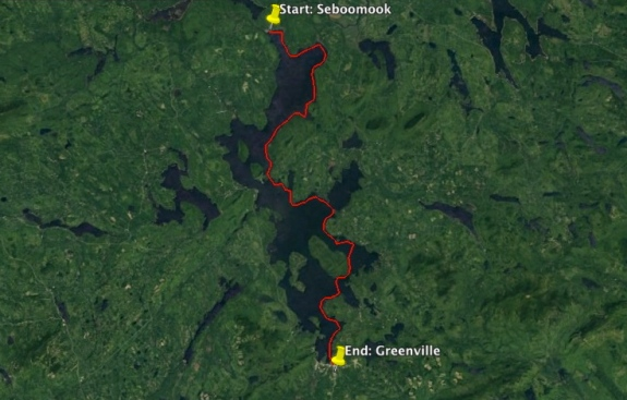 Our route will follow the eastern shore of MooseHead Lake, starting in Seboomook in the North and ending in Greenville, 75km (45miles) later.